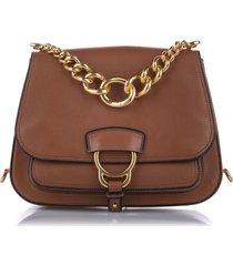 miu miu madras dahlia leather crossbody bag brown sz: s