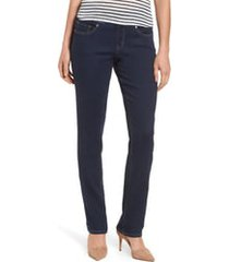 women's jag jeans peri pull-on straight leg jeans, size 14 - blue