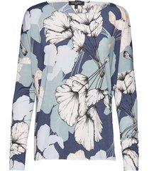 blouse blouse lange mouwen blauw ilse jacobsen