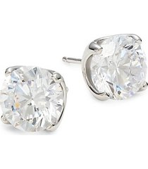 sterling silver, platinum & simulated diamond stud earrings
