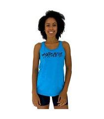 regata feminina alto conceito hardcore azul piscina