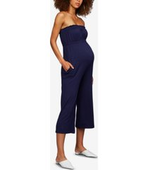 a pea in the pod maternity french terry jumpsuit