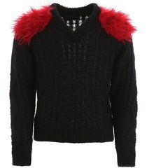 prada pullover with faux fur