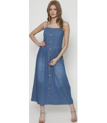 vestido jeans midi 10 botones azul 609seisceronueve