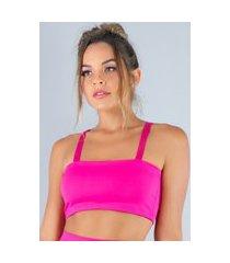 top mvb modas faixa com alça suplex rosa