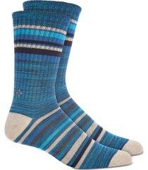 sun + stone men's navy stripe socks