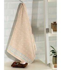 toalha de rosto dohler jacquard confort, liso, bege - fj-5281