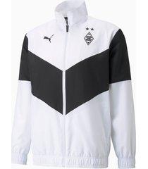 bmg prematch voetbaljack heren, wit/zwart, maat xs | puma