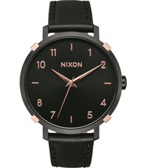 reloj arrow leather negro nixon