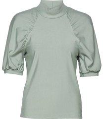rifagz ss turtleneck blouses short-sleeved grijs gestuz