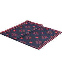men's mcm visetos logo cotton & silk scarf