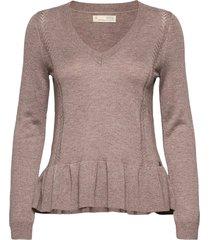 aurora sweater stickad tröja rosa odd molly