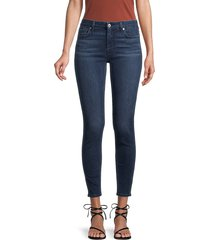 7 for all mankind women's ankle skinny jeans - bair varnish - size 26 (2-4)
