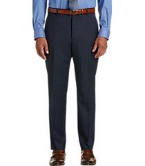 awearness kenneth cole awear-tech blue check slim fit dress pants