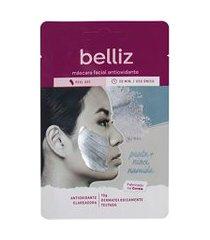 máscara facial antioxidante com prata belliz | belliz | u