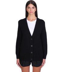 iro misha cardigan in black wool