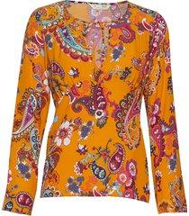 knock-off blouse blouse lange mouwen oranje odd molly
