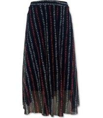 alfani petite printed mesh midi skirt, created for macy's