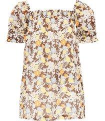 tory burch floral cotton mini dress
