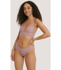 na-kd lingerie wide lace hipster - purple
