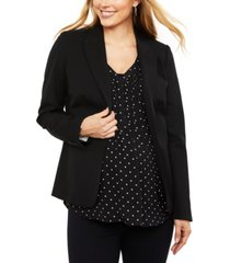 a pea in the pod maternity button front bi-stretch suiting maternity blazer