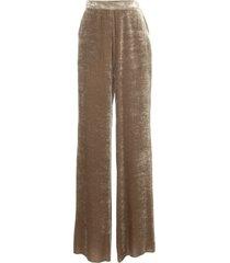 etro slim pants silk velvet