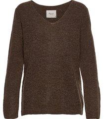 pzastrid pullover stickad tröja brun pulz jeans