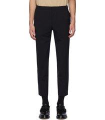 crop leg wool pants