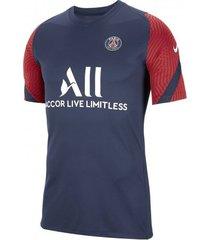 camiseta nike jordan paris saint germain strike masculina