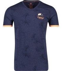 donkerblauw geprint t-shirt nza tairutu