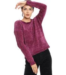 sweater wados solid morado - calce holgado
