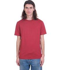 acne studios everest t-shirt in bordeaux cotton