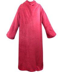 cobertor com mangas zc vermelho