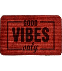 capacho carpet good vibes only vermelho único love decor
