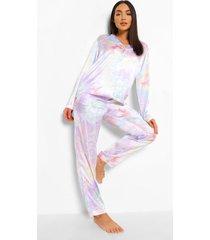 satijnen tie dye pyjama, multi