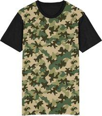 camiseta tshirt migian camuflada camo sublimada verde - verde - dafiti