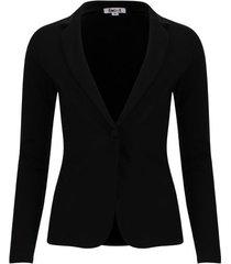 chaqueta tipo blazer unicolor color negro, talla m