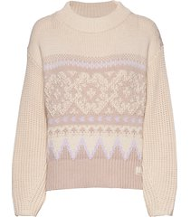 magnetic jacquard sweater stickad tröja rosa odd molly