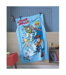 toalha de banho infantil de algodão toy story azul claro