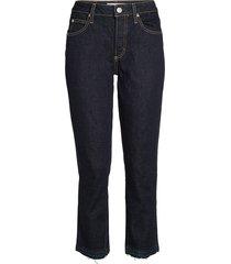 amo women's babe raw hem skinny ankle jeans - soft raw denim - size 25 (2)