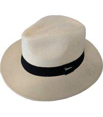 chapéu chapelaria vintage moda panamá palha shantung - aba média