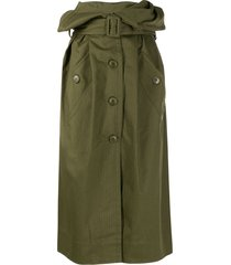 jacquemus mid-length trench skirt - green