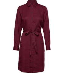 d2. signature weave shirt dress jurk knielengte rood gant