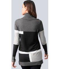 tröja alba moda svart::grå::silverfärgad
