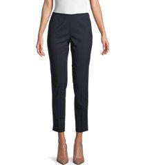 theory women's belisa stretch virgin wool ankle pants - black - size 6
