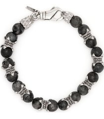 emanuele bicocchi beaded chain bracelet - grey