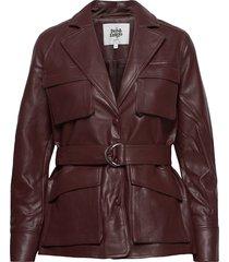 cecilia jacket leren jack leren jas bruin twist & tango