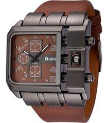 reloj cuadrado de cuarzo elegante oulm.