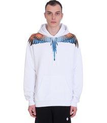 marcelo burlon sweatshirt in white cotton