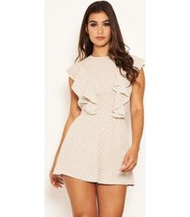 ax paris women's polka dot frill panel romper